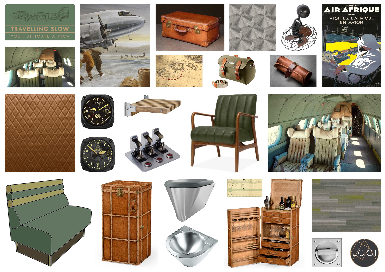 Vintage aircraft. Aircraft Interior design. Travelling Slow. Aeronautical Design. Loci Interiors. Cambridge Designers